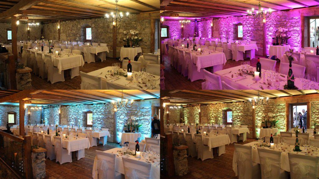 location sonorisation et éclairage haute-savoie - éclairage salle mariage boly